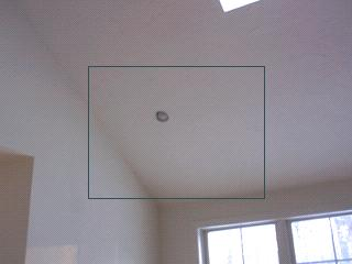 air inflitration at recessed light.
