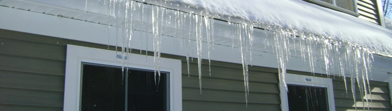 Ice dams and heatloss