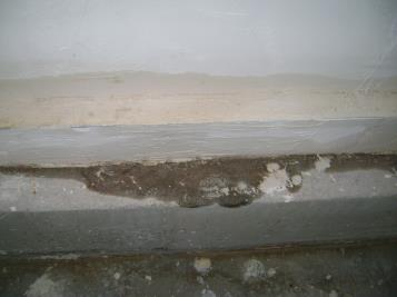 Moisture in wall from poor flashing detail.